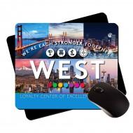 "Large Premium Plastic Mouse Pad |RUSH| 7.75""x9.25"" 1/8"""