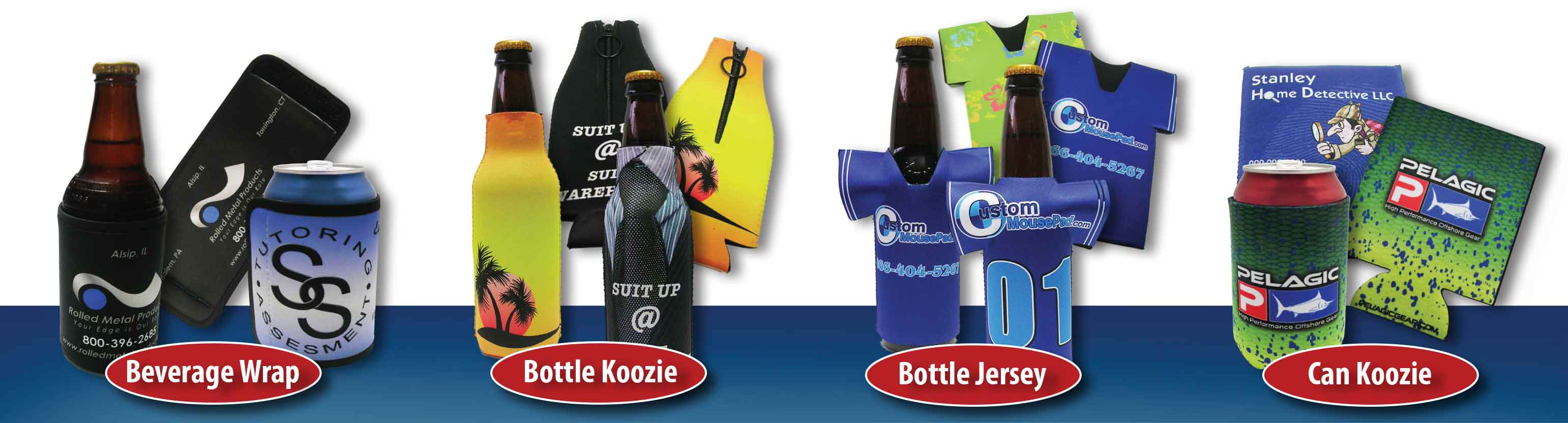 Beverage and Can koozies custom printed full color