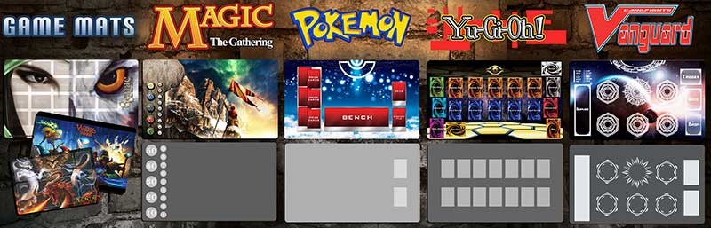 Custom Game Mats, Playmats for Magic, Pokemon, Yugioh and More